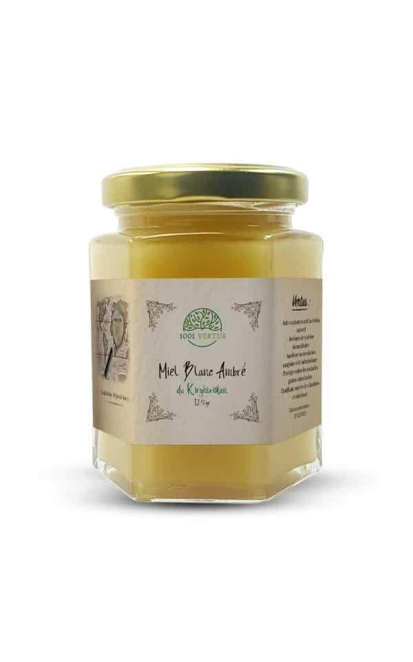 miel blanc ambré du Kirghizistan 125g - 1001 vertus