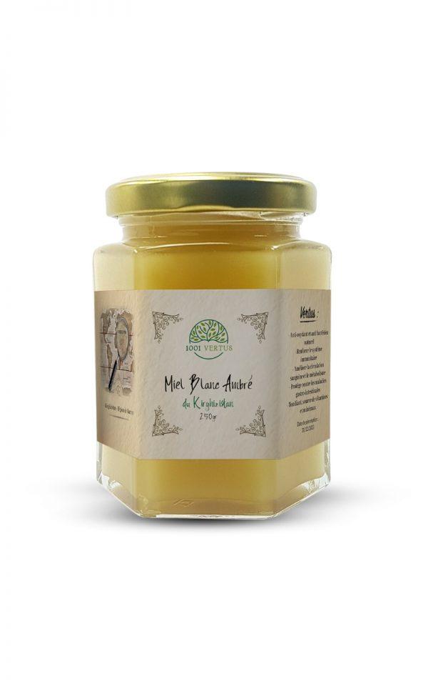 miel blanc ambré du Kirghizistan 250g - 1001 vertus
