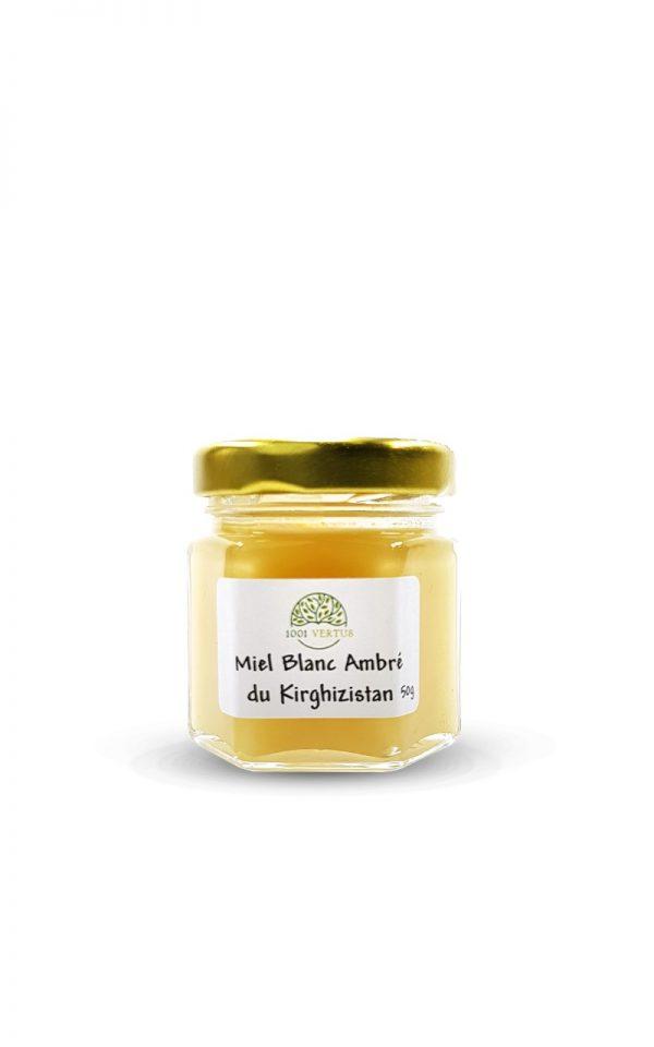 miel blanc ambré du Kirghizistan 50g - 1001 vertus