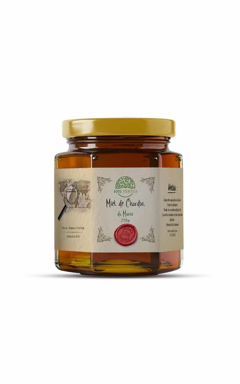 Miel de chardon du Maroc, analysé à57%