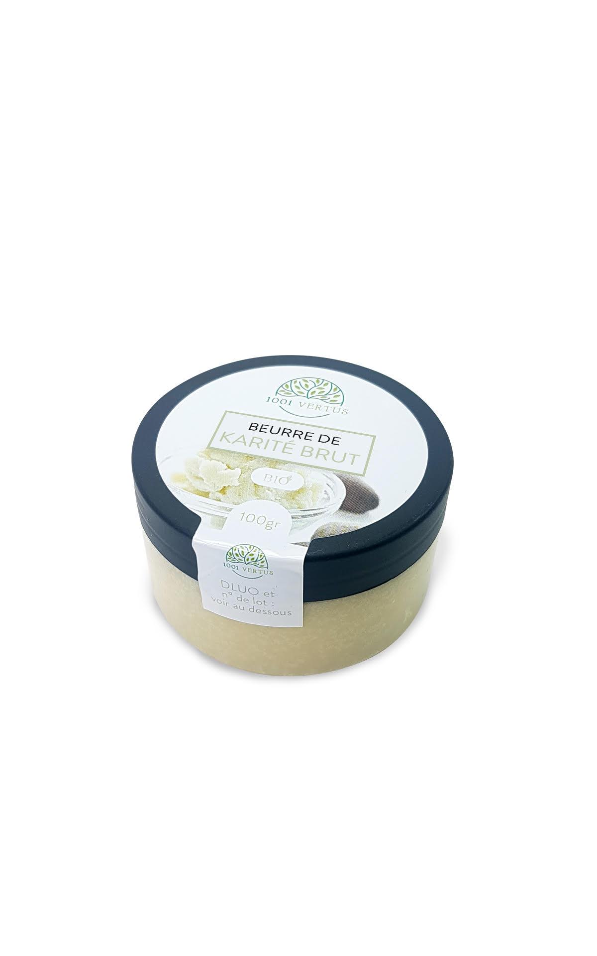 Beurre de karité brut et filtré, certifiée BIO et Écocert - 100g
