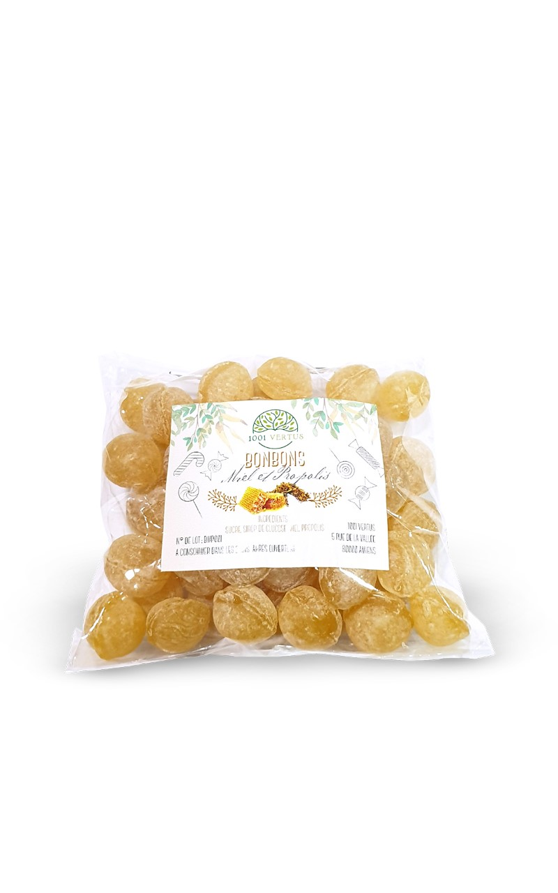 Bonbons au miel et à la propolis - 1001 vertus