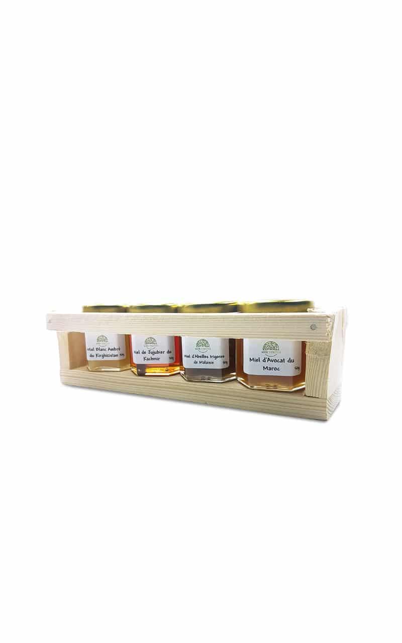 Coffret de 4 pots de 50g de miel