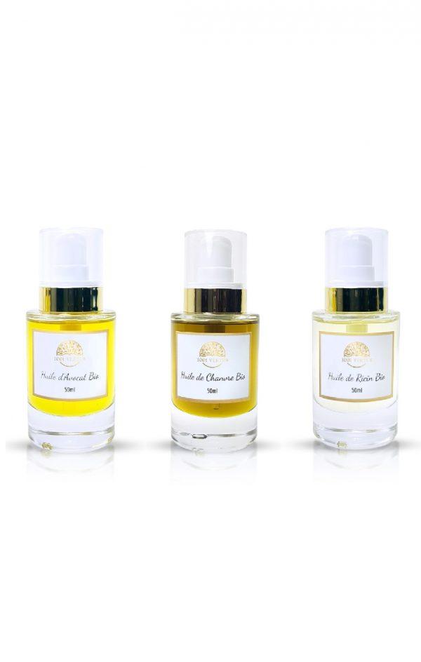 pack 3 huiles pour les cheveux 50ml - 1001 vertus