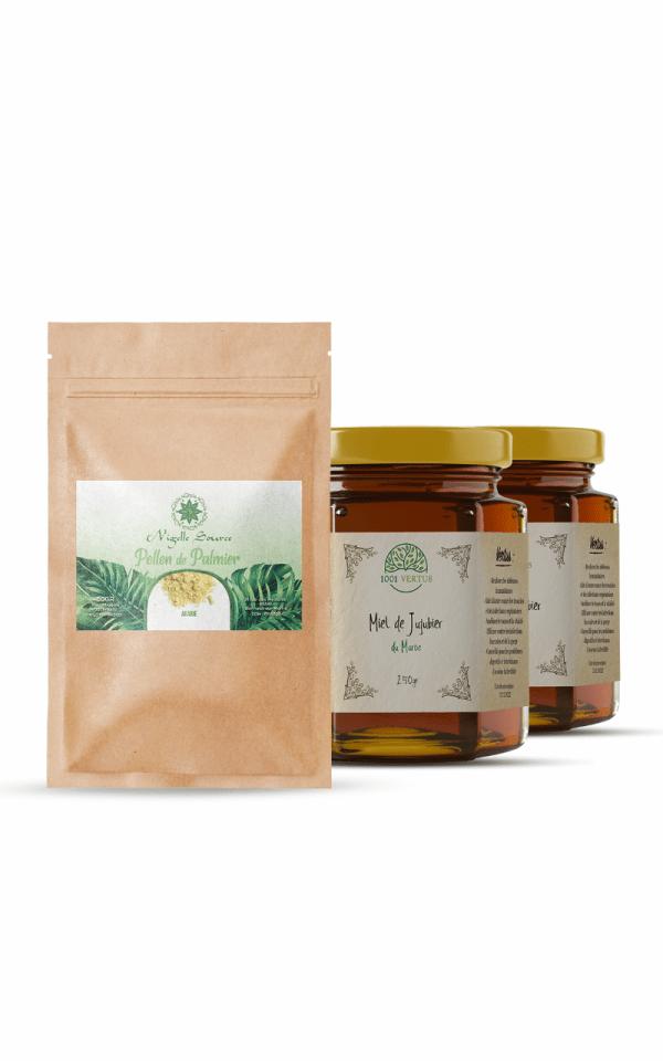 pack fertilité - cure de 2 mois - miel de sidr