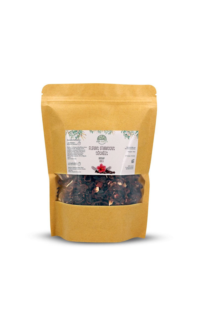 Fleurs d'hibiscus séchées (bissap) - 1001 VERTUS